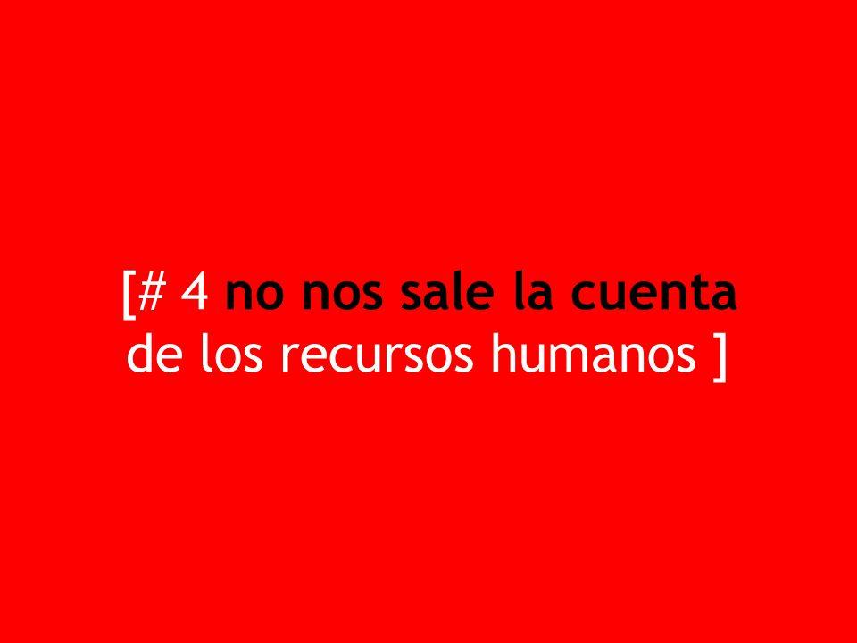 [# 4 no nos sale la cuenta de los recursos humanos ]