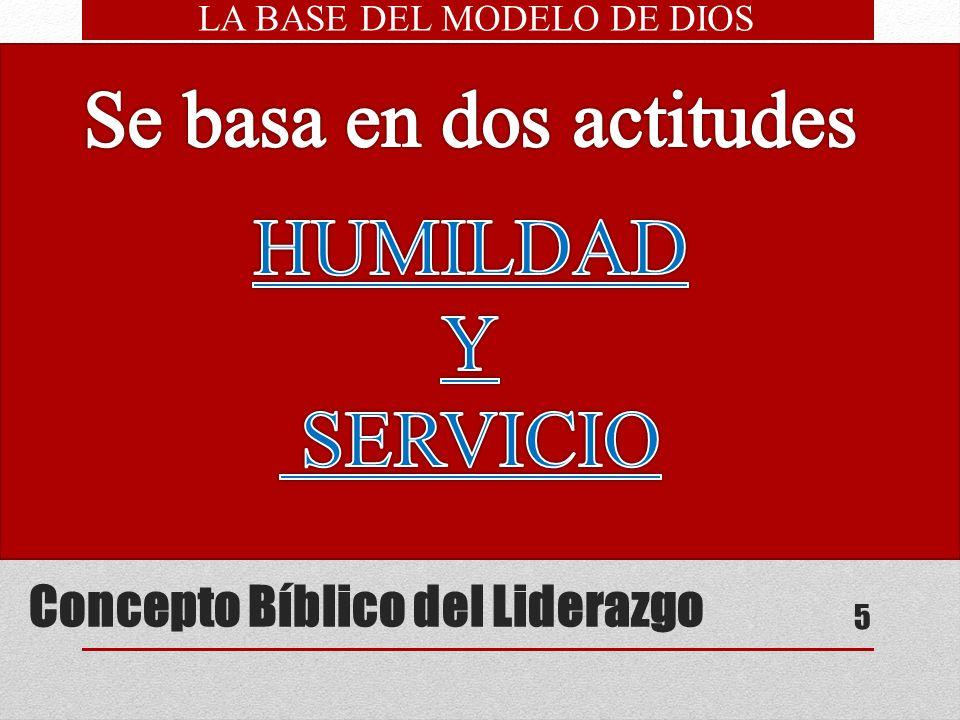 Concepto Bíblico del Liderazgo 5 servidor siervo Marcos 10:43-44 Cristo enfatiza: