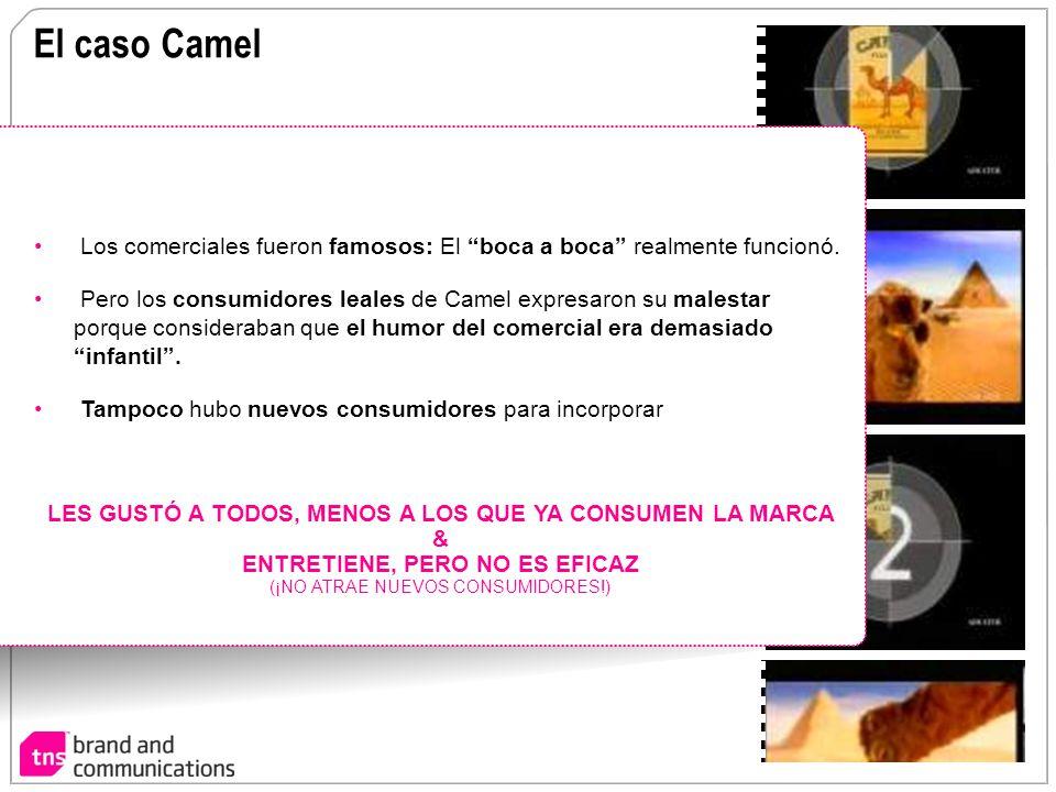 El caso Camel Los comerciales fueron famosos: El boca a boca realmente funcionó. Pero los consumidores leales de Camel expresaron su malestar porque c