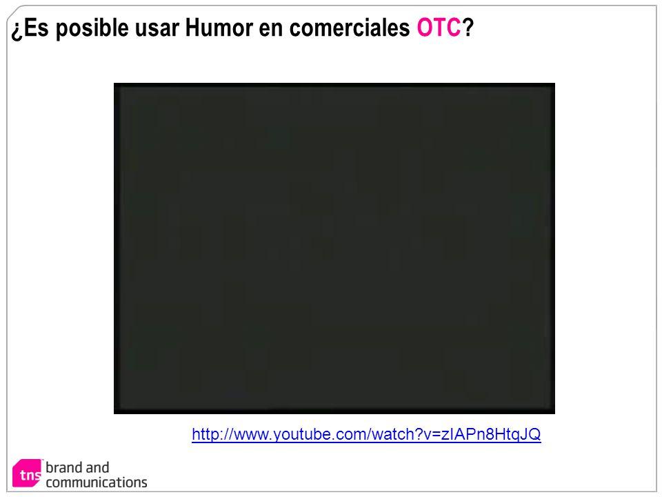 ¿Es posible usar Humor en comerciales OTC? http://www.youtube.com/watch?v=zIAPn8HtqJQ