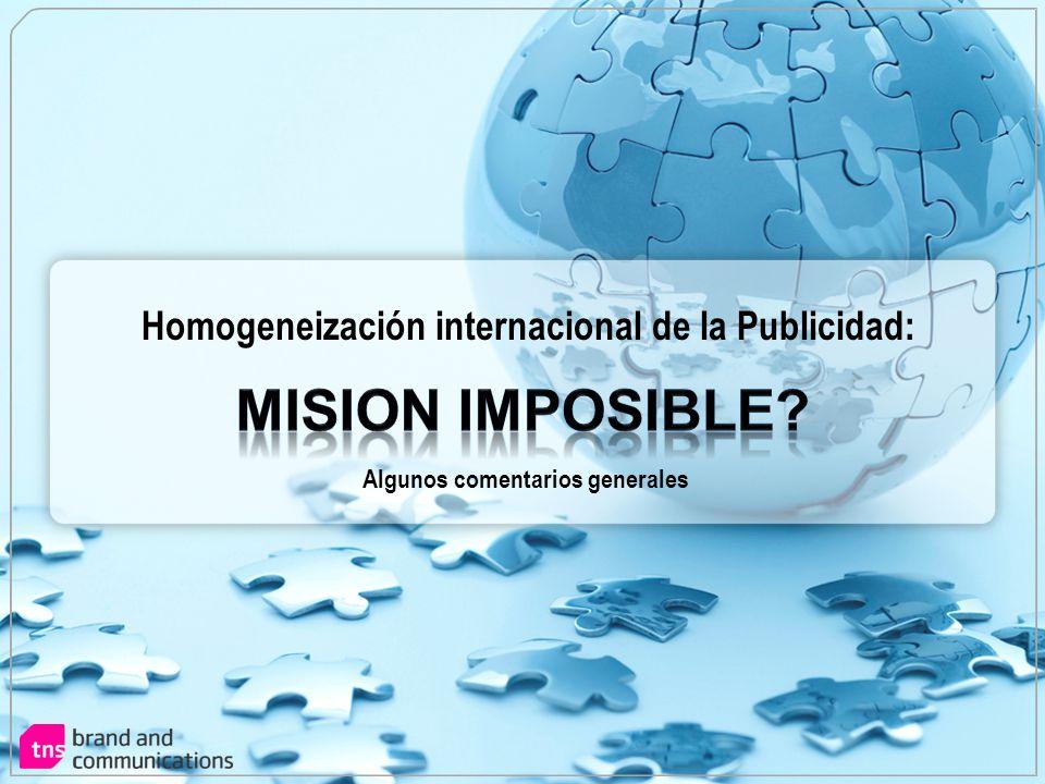 Homogeneización internacional de la Publicidad: Algunos comentarios generales