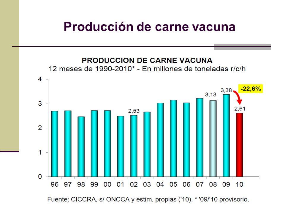 Producción de carne vacuna