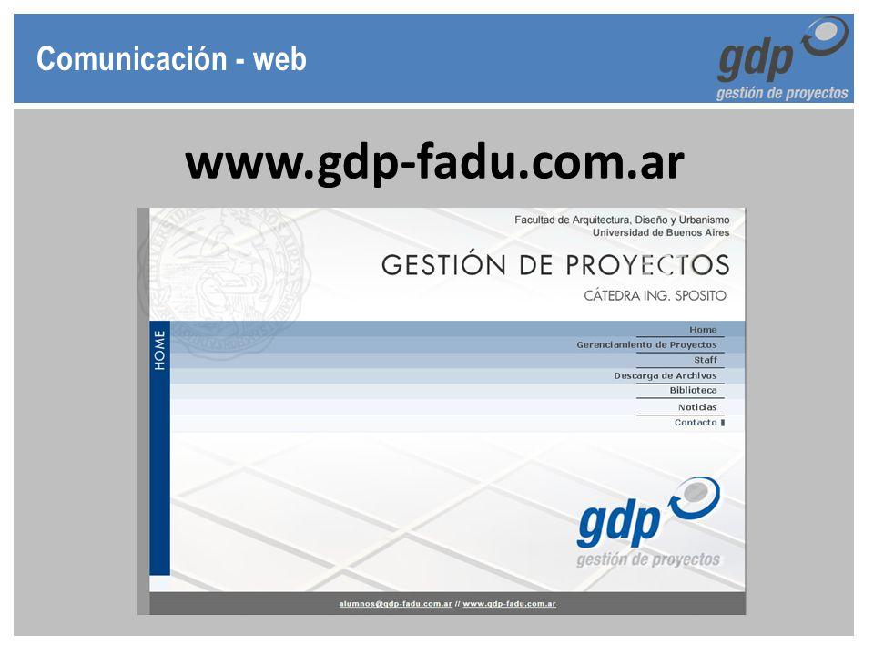 Comunicación - web www.gdp-fadu.com.ar