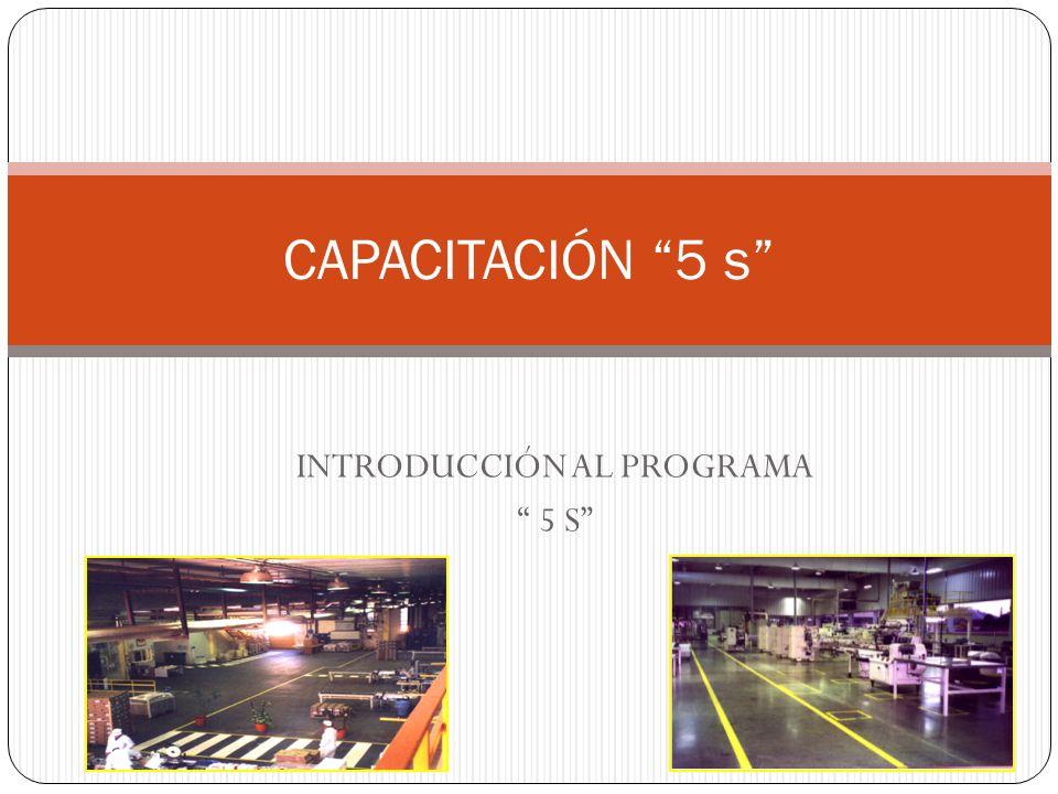 INTRODUCCIÓN AL PROGRAMA 5 S CAPACITACIÓN 5 s