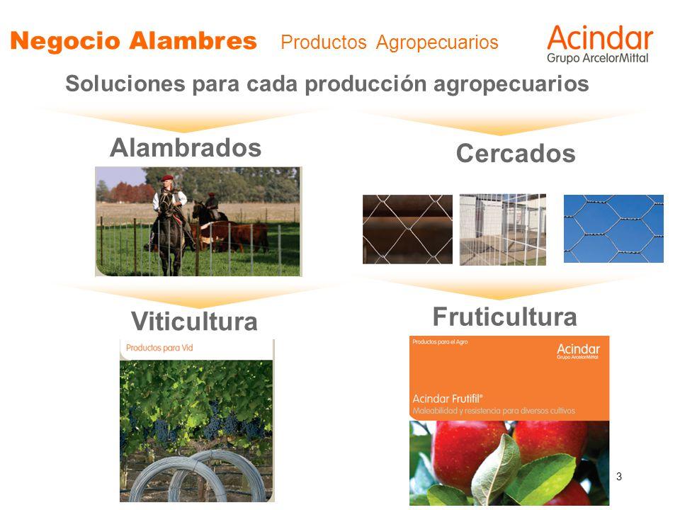 3 Negocio Alambres Productos Agropecuarios Soluciones para cada producción agropecuarios Alambrados Cercados Viticultura Fruticultura