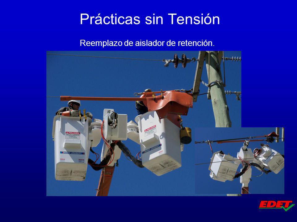 Reemplazo de aislador de retención. Prácticas sin Tensión