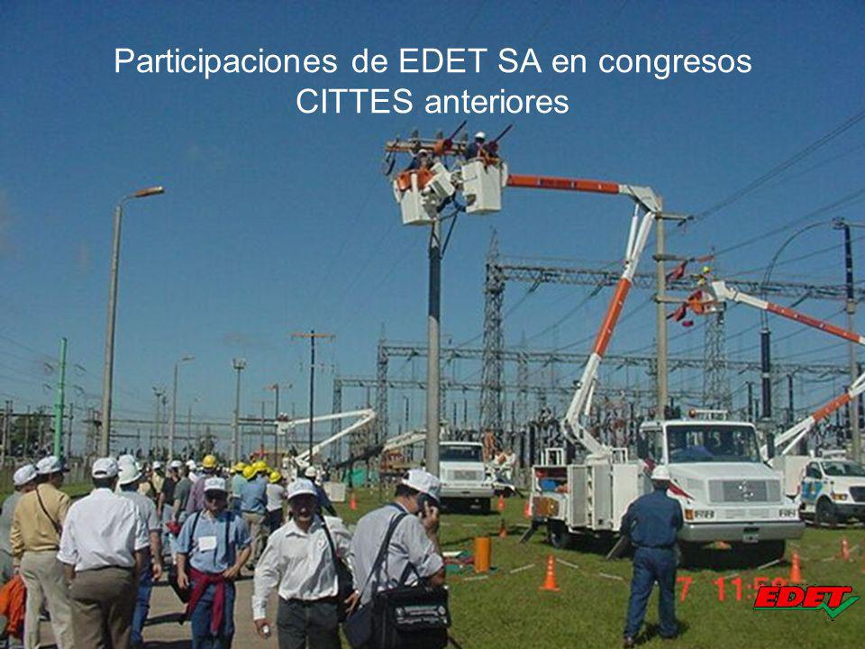 Participaciones de EDET SA en congresos CITTES anteriores