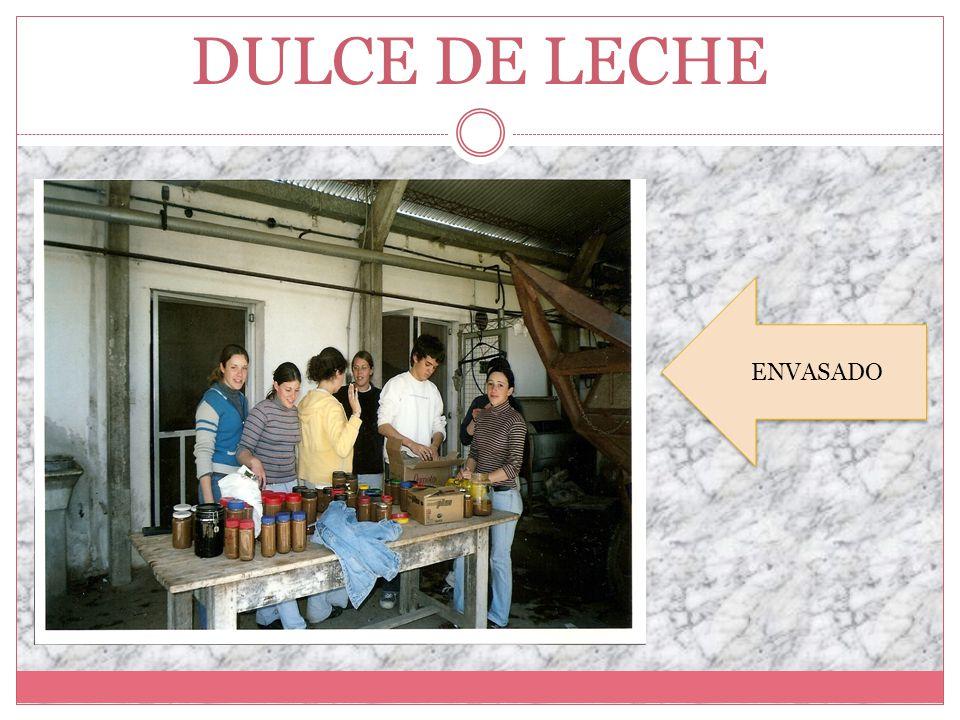 DULCE DE LECHE ENVASADO ENVASADO