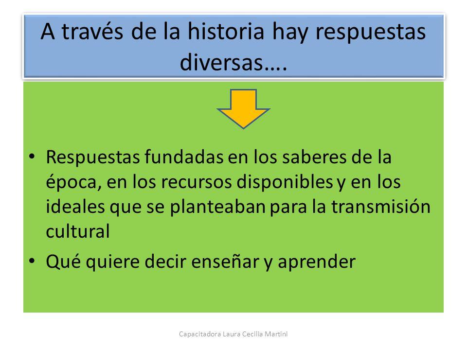 A través de la historia hay respuestas diversas….