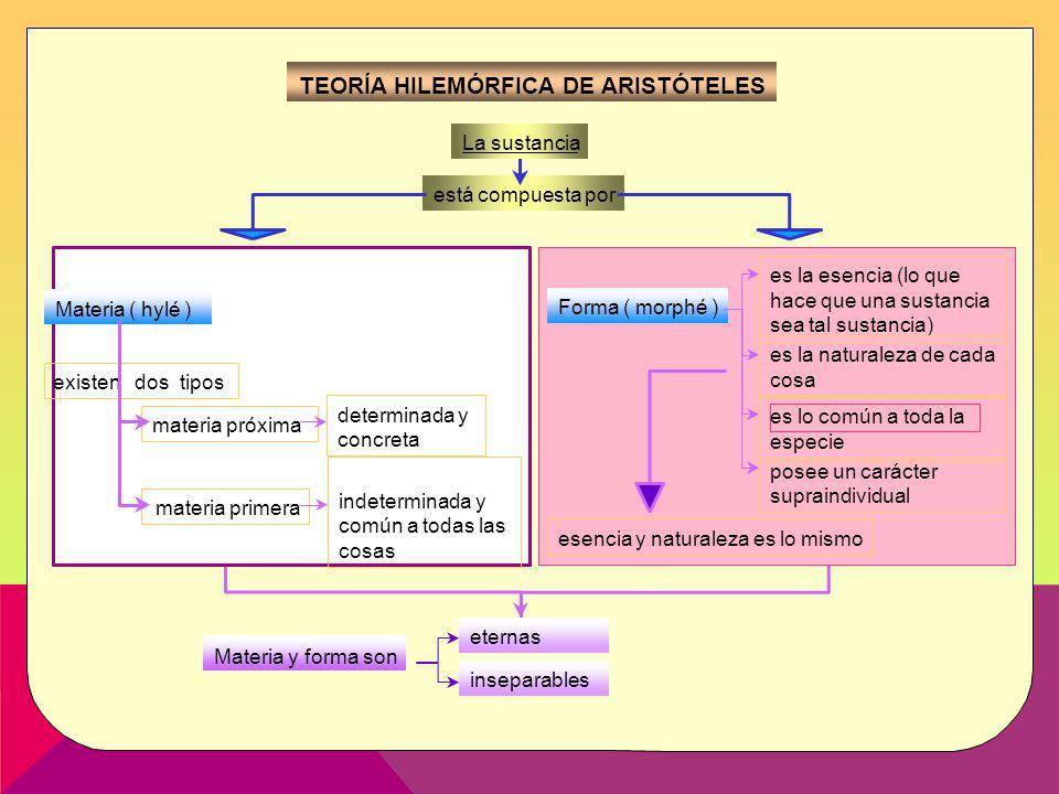 Tema 3 Aristóteles Imagen 5HISTORIA DE LA FILOSOFÍA-2º BACHILLERATO La sustancia está compuesta por Materia (hylé) existen dos tipos materia próxima d