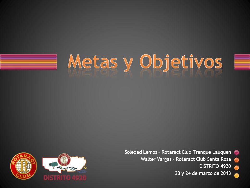 Soledad Lemos – Rotaract Club Trenque Lauquen Walter Vargas – Rotaract Club Santa Rosa DISTRITO 4920 23 y 24 de marzo de 2013
