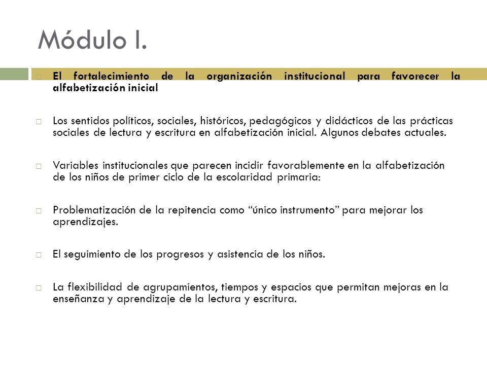 Módulo II Prácticas del lenguaje en primer ciclo de la educación primaria.