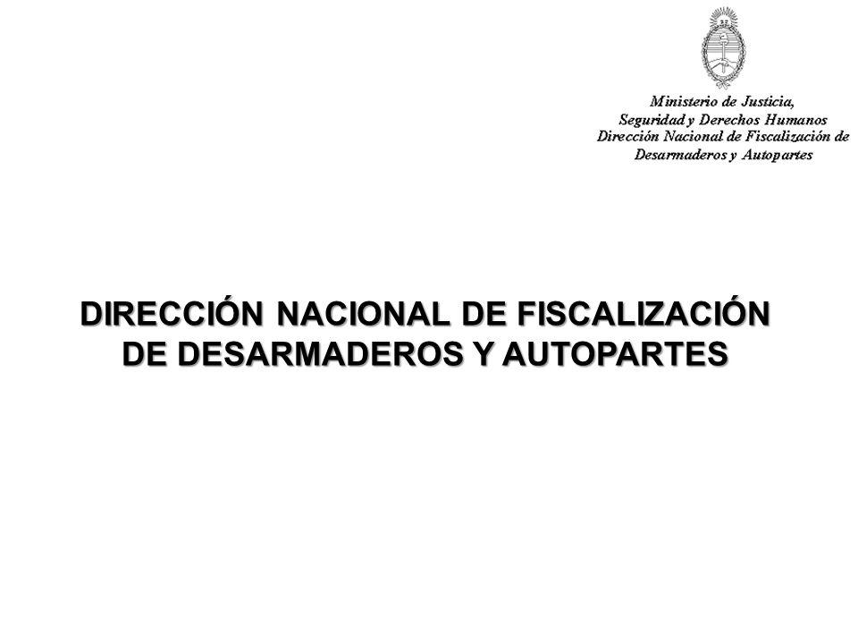 DIRECCIÓN NACIONAL DE FISCALIZACIÓN DE DESARMADEROS Y AUTOPARTES