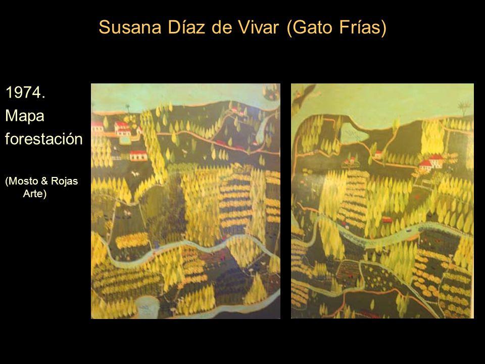 Susana Díaz de Vivar (Gato Frías) 1974. Mapa forestación (Mosto & Rojas Arte)