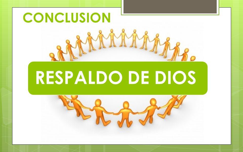 CONCLUSION RESPALDO DE DIOS