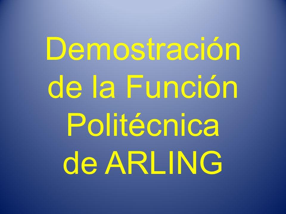 Demostración de la Función Politécnica de ARLING