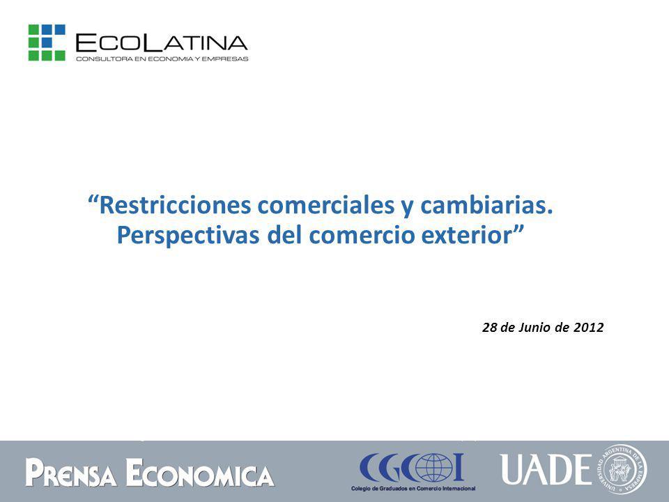 28 de Junio de 2012 Restricciones comerciales y cambiarias. Perspectivas del comercio exterior