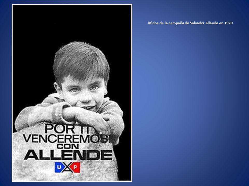 Afiche de la campaña de Salvador Allende en 1970