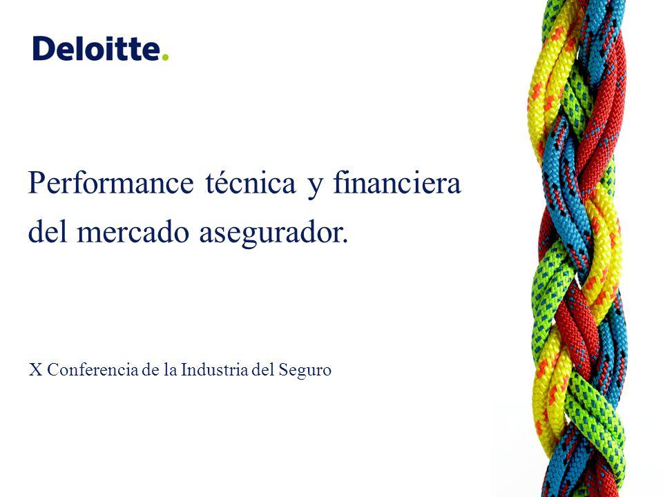 Performance técnica y financiera del mercado asegurador. X Conferencia de la Industria del Seguro