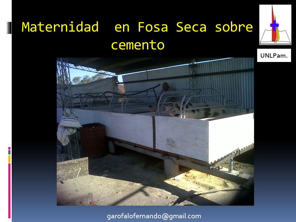 Maternidad en Fosa Seca sobre cemento UNLPam. garofalofernando@gmail.com