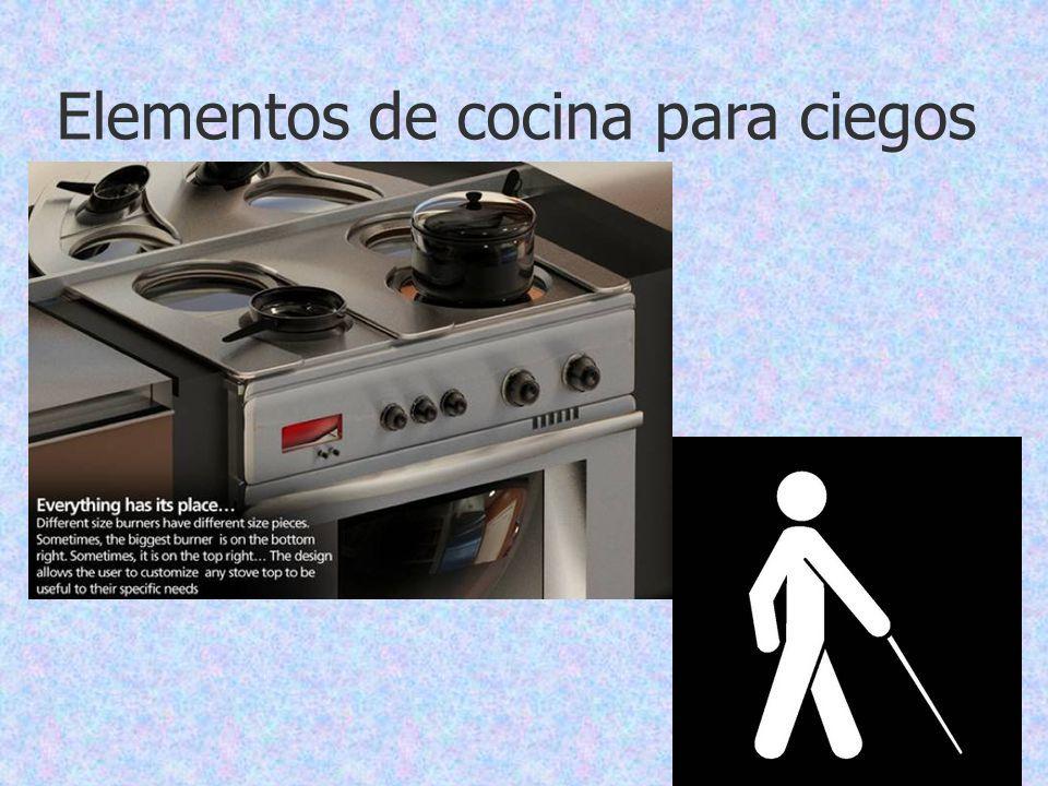 Elementos de cocina para ciegos