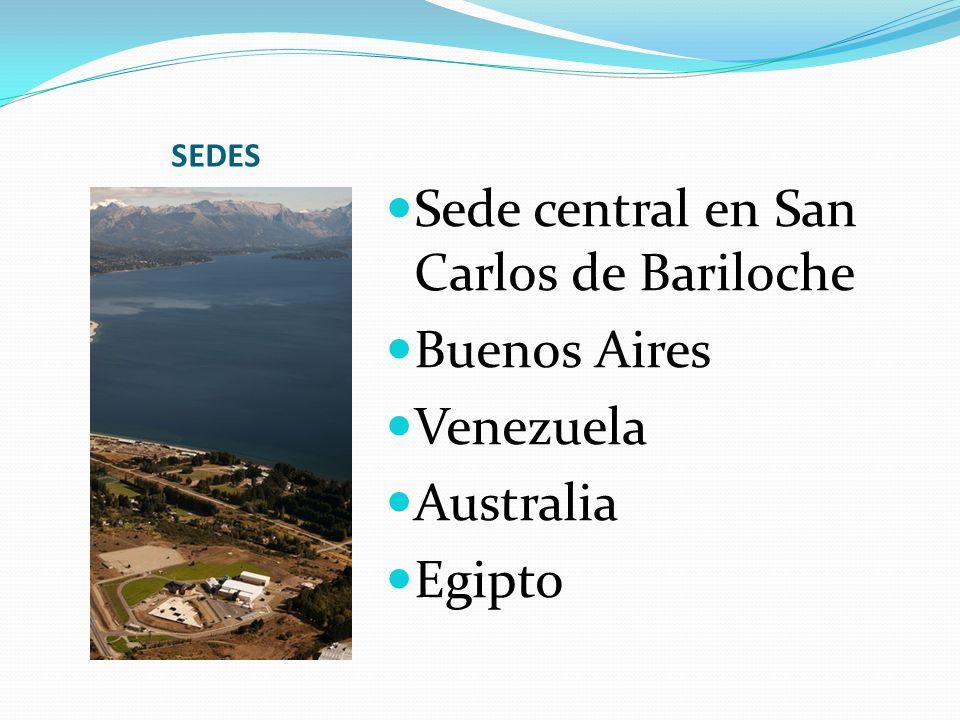 SEDES Sede central en San Carlos de Bariloche Buenos Aires Venezuela Australia Egipto