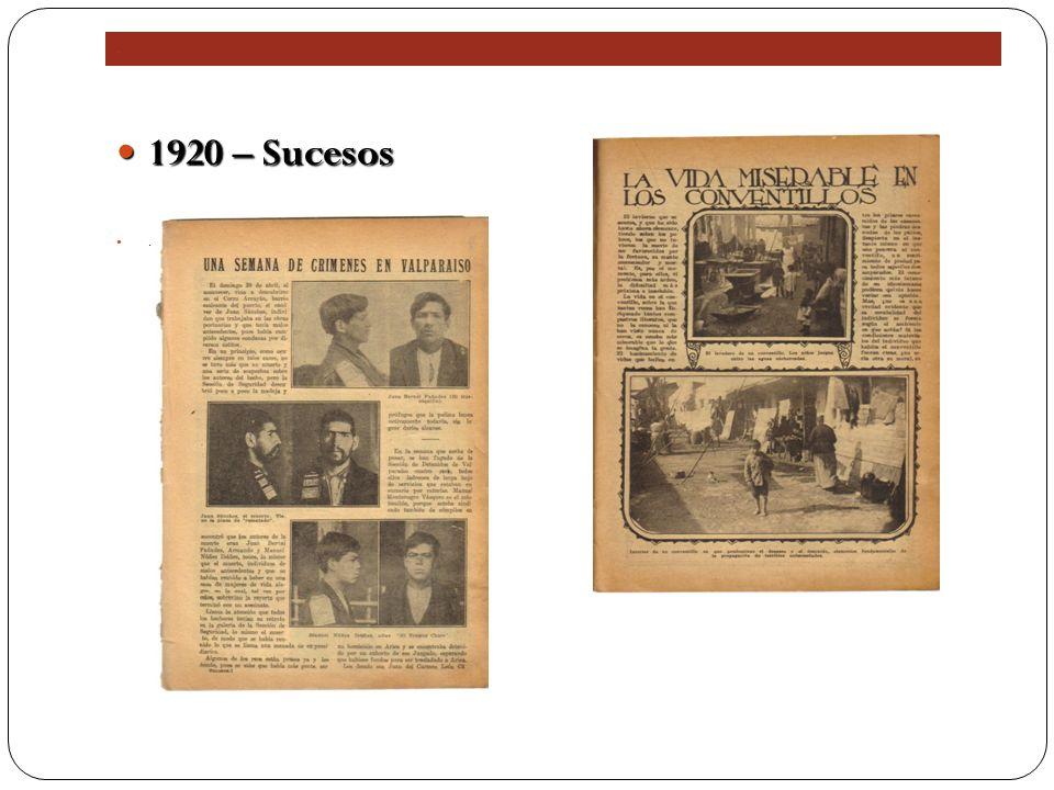 . 1920 – Sucesos 1920 – Sucesos.