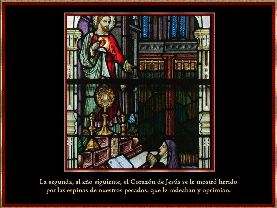 La primera, en 1673, en la que Jesús le descubrió su amor infinito hacia los hombres.