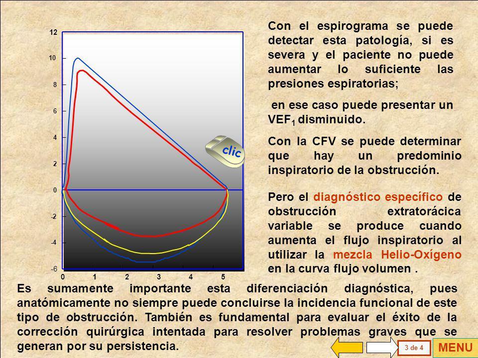 En espiración la presión intraluminar aumenta a valores positivos y el flujo puede alcanzar valores cercanos a lo normal. Conservar esta posibilidad d
