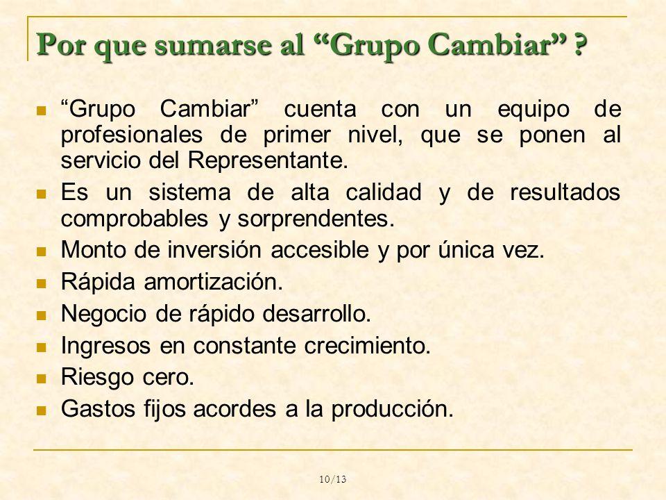 10/13 Por que sumarse al Grupo Cambiar .