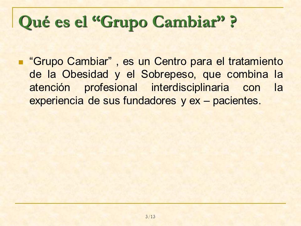 3/13 Qué es el Grupo Cambiar .
