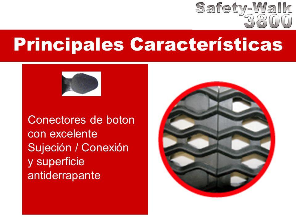 Principales Características Conectores de boton con excelente Sujeción / Conexión y superficie antiderrapante