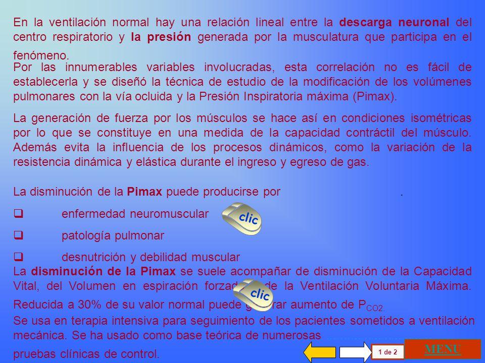 RELACION PRESION VOLUMEN INSPIRACION MAXIMA (Pimax) ESPIRACION MAXIMA (Pemax) RELAJACION DEL SISTEMA (Psv) VENTILACION NORMAL Individuo Joven Individu