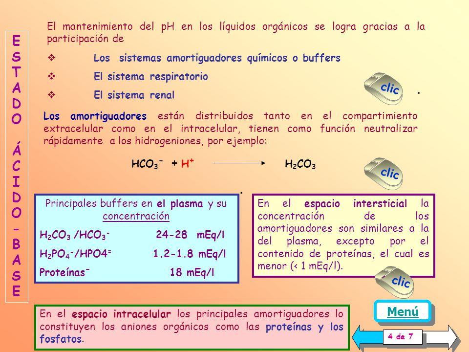 Cuando la concentración de hidrogeniones se aleja de la concentración fisiológica (40 nMol/l, pH = 7.4), la interacción del ión H 3 0 + con los grupos