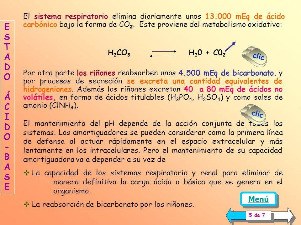 El mantenimiento del pH en los líquidos orgánicos se logra gracias a la participación de Los sistemas amortiguadores químicos o buffers El sistema res