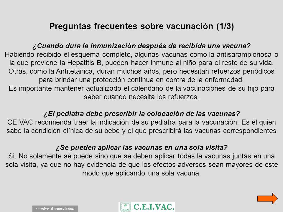 Preguntas frecuentes sobre vacunación (1/3) ¿Cuando dura la inmunización después de recibida una vacuna? Habiendo recibido el esquema completo, alguna