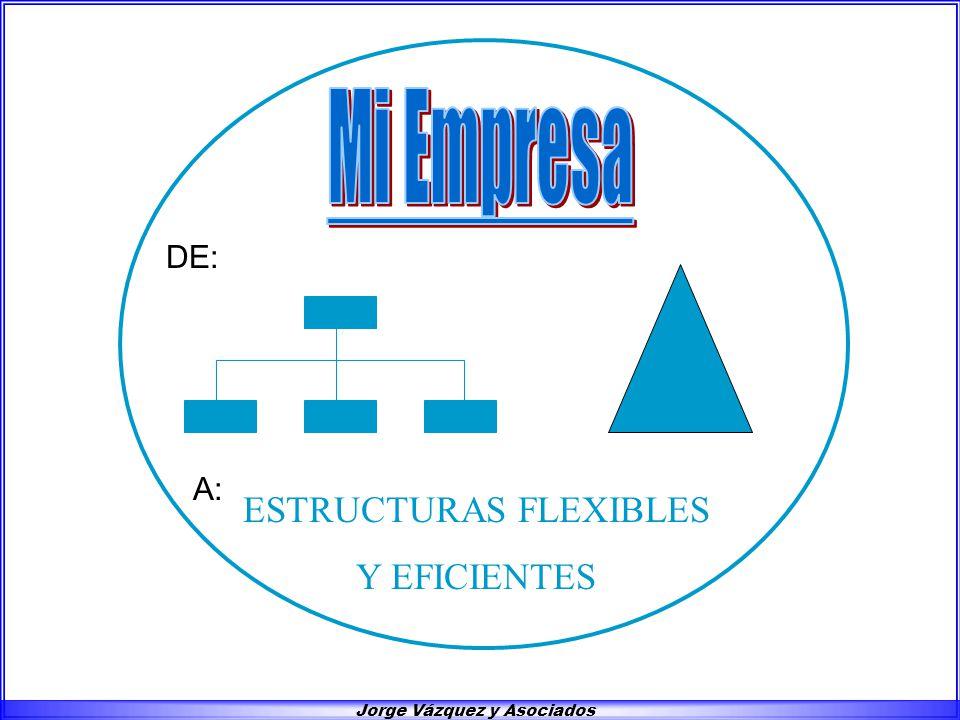 Jorge Vázquez y Asociados DE: A: ESTRUCTURAS FLEXIBLES Y EFICIENTES