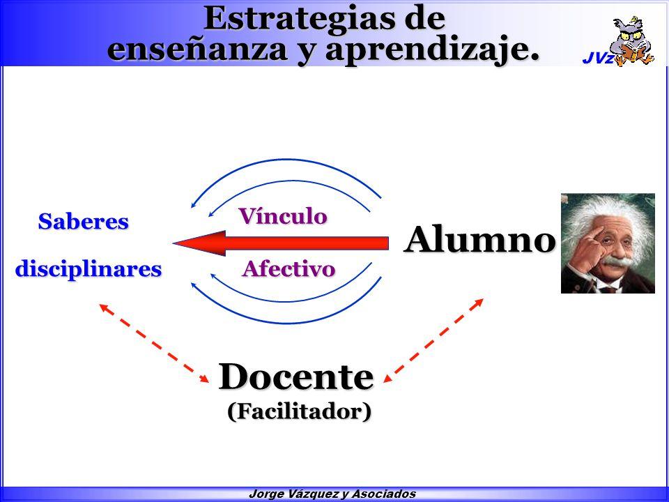 Jorge Vázquez y Asociados Saberes Estrategias de enseñanza y aprendizaje.