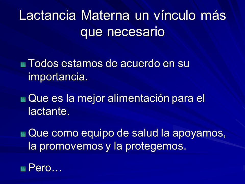 Lactancia Materna un vínculo más que necesario Tasa de prevalencia de LME..200820092010 LME 4to.