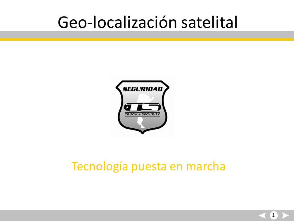 Geo-localización satelital Tecnología puesta en marcha 1