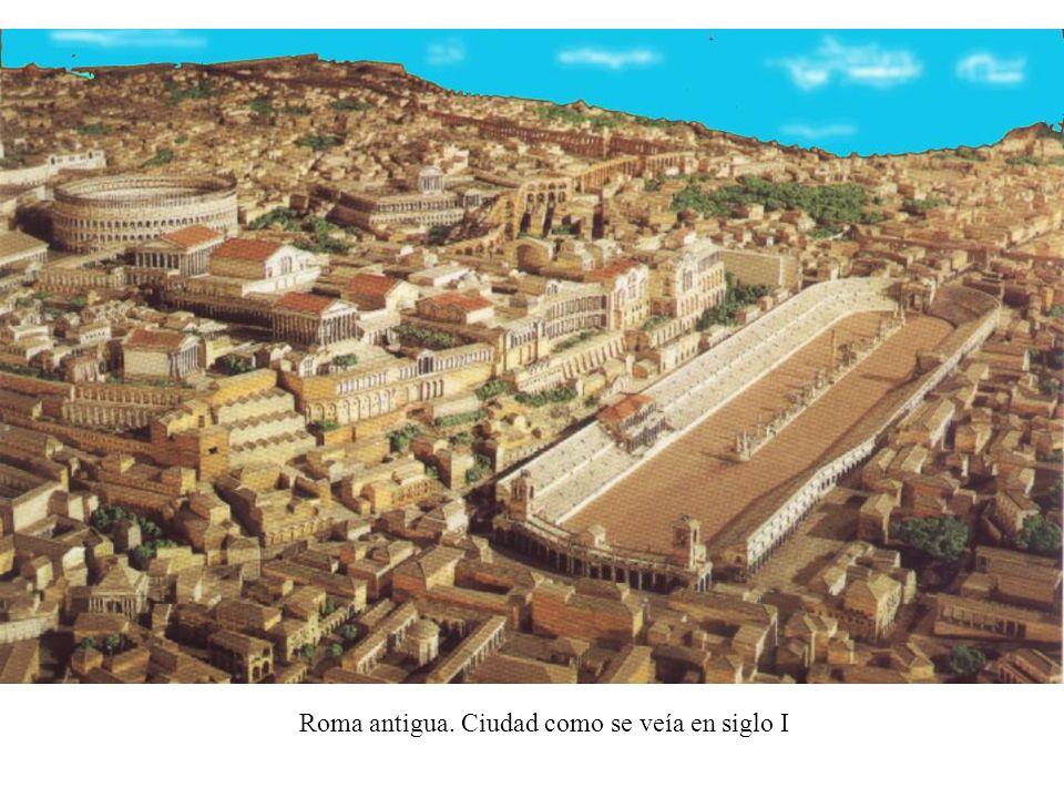 Roma antigua. Ciudad como se veía en siglo I