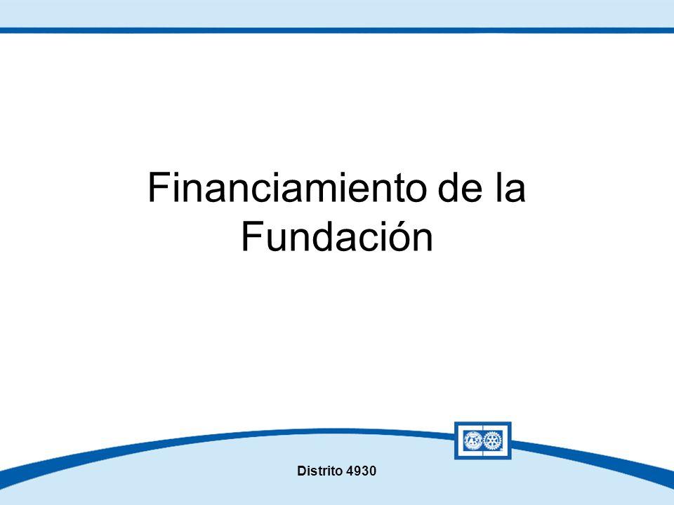Distrito 4930 Financiamiento de la Fundación