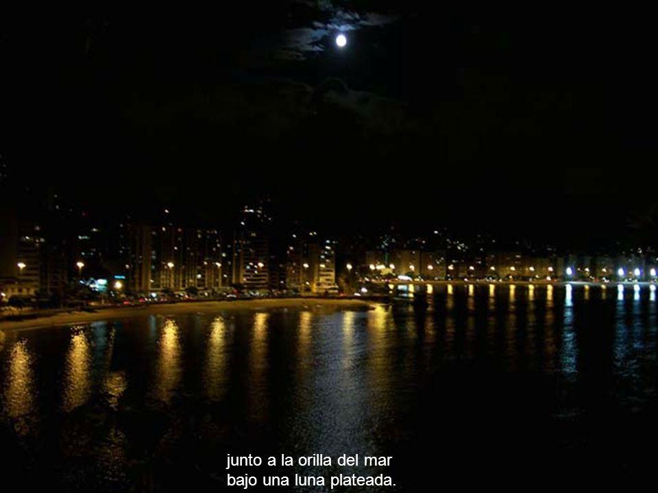 Una noche en sueños vi que con Jesús caminaba