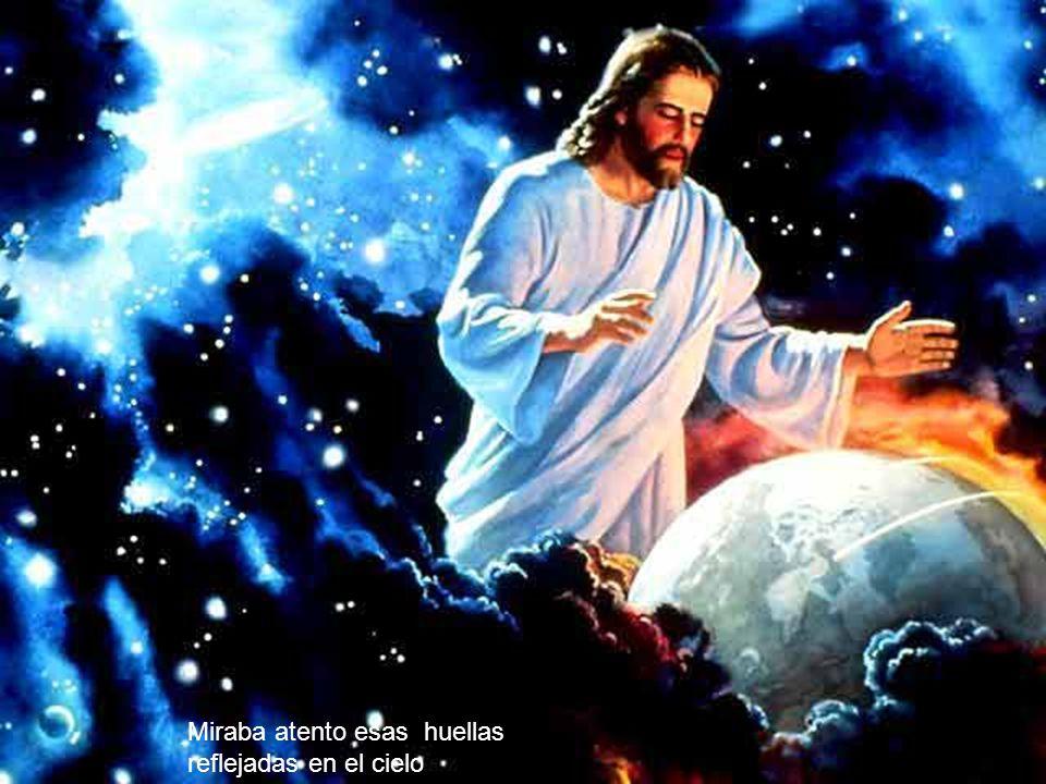 mientras con Jesús andaba como amigos conversando.