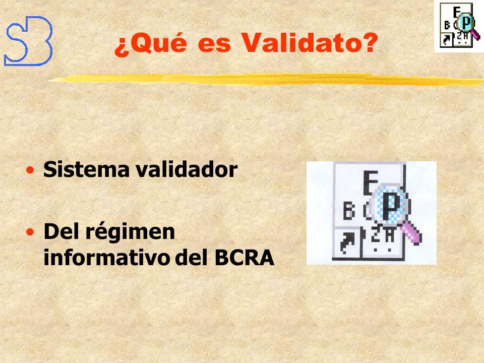 Ingreso de la información al BCRA sin rechazos Mínimo tiempo de respuesta Se opera en la propia entidad Los procesos insumen segundos Confidencialidad de la información Relación costo/benificio ¿Por qué Validato?