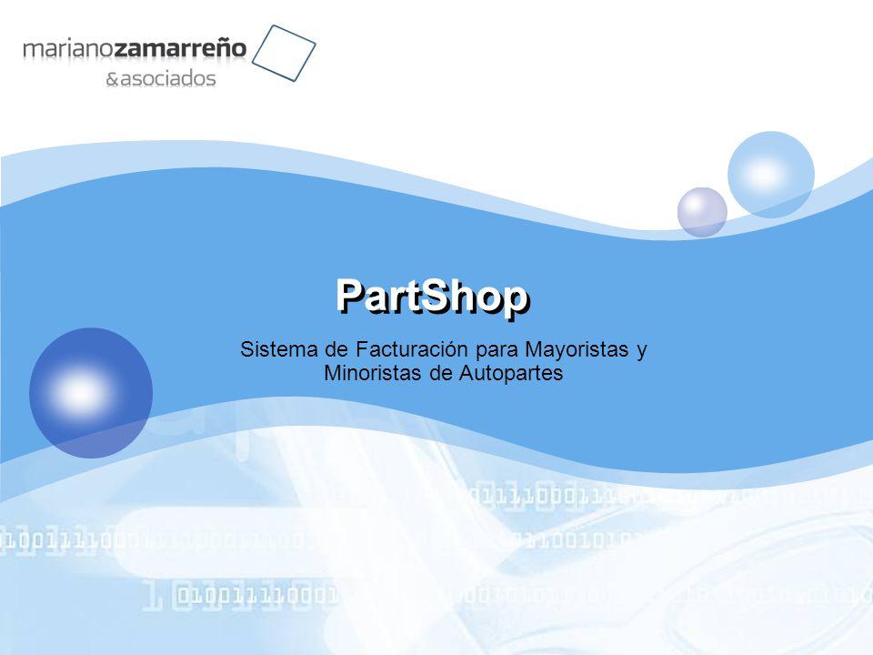 LOGO PartShop Sistema de Facturación para Mayoristas y Minoristas de Autopartes