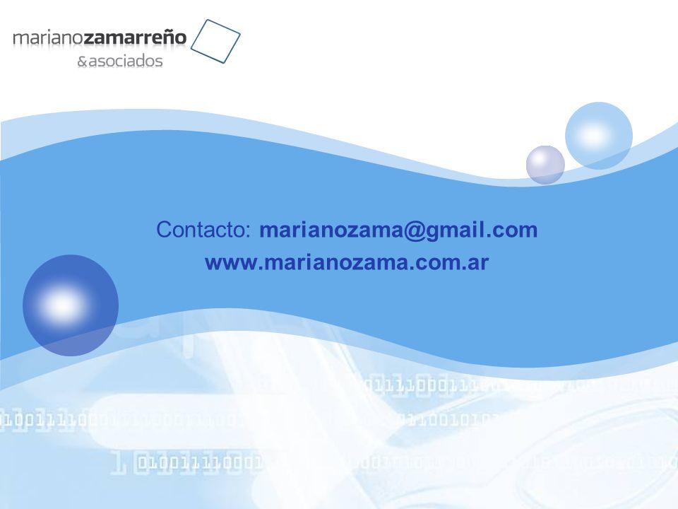 LOGO Contacto: marianozama@gmail.com www.marianozama.com.ar