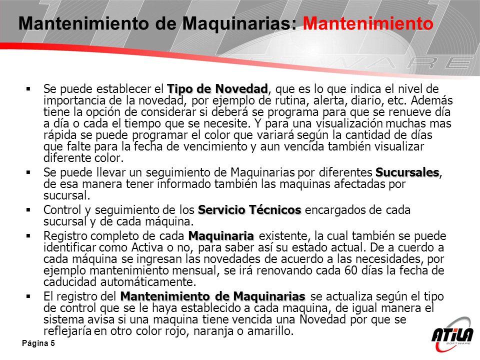 Página 6 Mantenimiento de Maquinarias: Informes