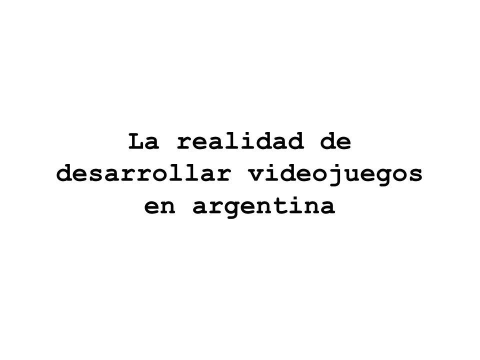 La realidad de desarrollar videojuegos en argentina