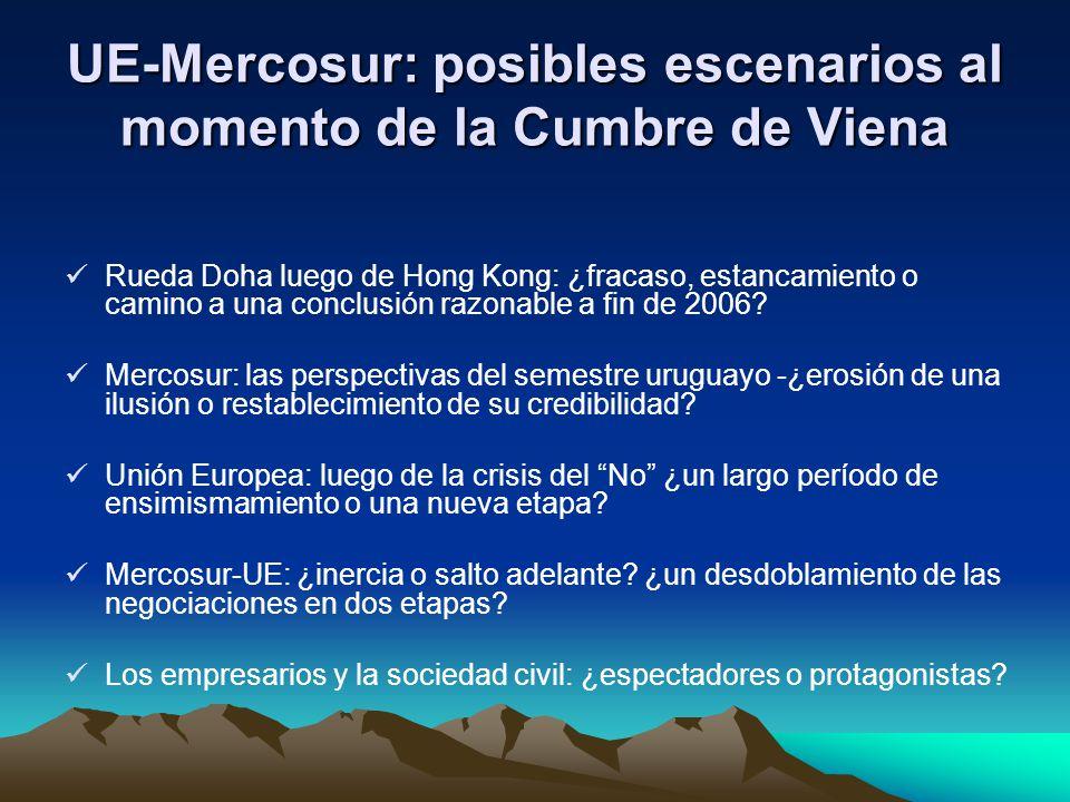 UE-Mercosur: posibles escenarios al momento de la Cumbre de Viena Rueda Doha luego de Hong Kong: ¿fracaso, estancamiento o camino a una conclusión raz